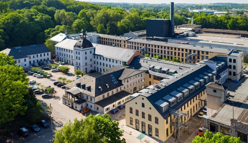 Luftbild Schönherrfabrik